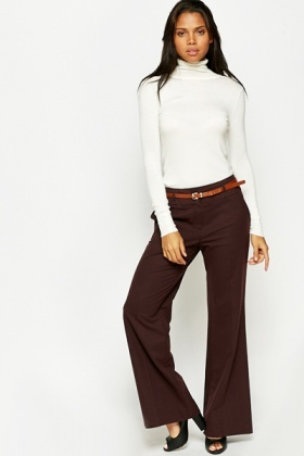 Maroon Flare Trousers
