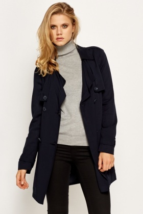 Navy Light Weight Mac Jacket