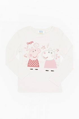 White Peppa Pig And Suzy Sheep Top