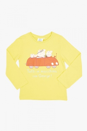 Yellow Peppa Pig Family Top