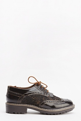 Khaki Knit Insert Brogue