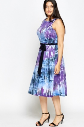 Purple Multi Swing Dress