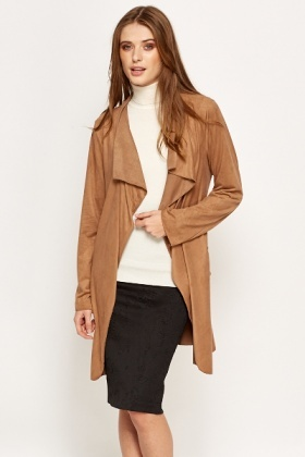 Brown Lightweight Belted Coat