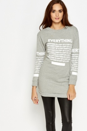 Everything Logo Long Sweater