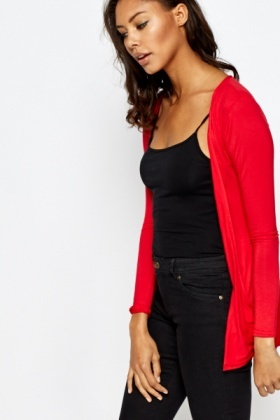 Red Light Weight Cardigan