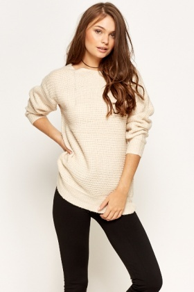 Casual Knitted Round Neck Jumper