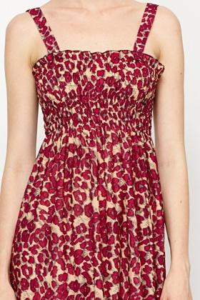 5ea372f3f14 Elastic Top Printed Summer Dress - Just £5