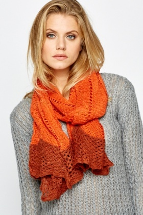 Knitted Two Way Snood Scarf