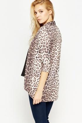 Leopard Print Open Cardigan - Just £5