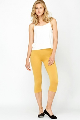 Mustard Cropped Leggings