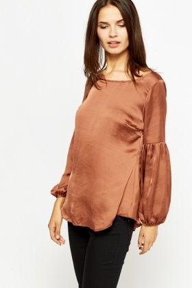 Silk Feel Boho Sleeve Top