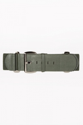 Faux Leather Buckle Belt