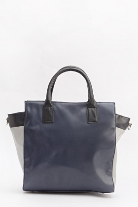 Faux Leather Contrast Bag