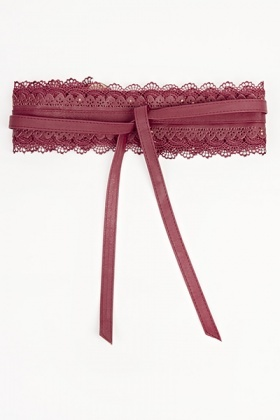 Lace Insert Laser Cut Belt