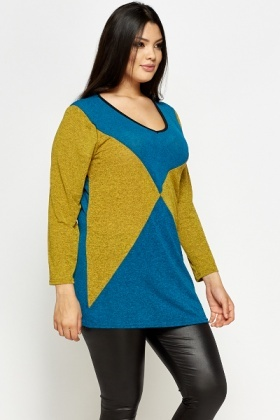 Contrast Bold Long Sleeve Top