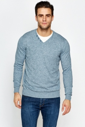 Shirt Insert Speckled Jumper