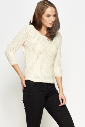 Dip Hem Loose Knit Jumper