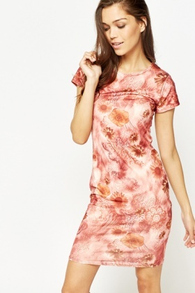 Multi Azalea Floral Bodycon Dress
