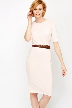 Pink Midi Bodycon Dress