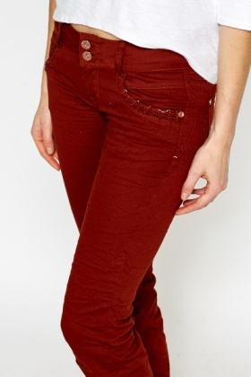Casual Denim Harem Trousers