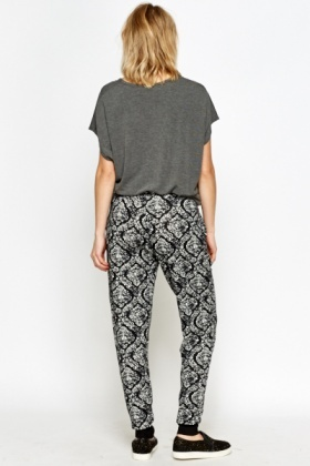 Printed Zipped Joggers