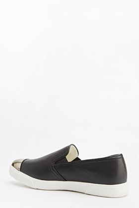 Contrast Pointed Toe Plimsolls