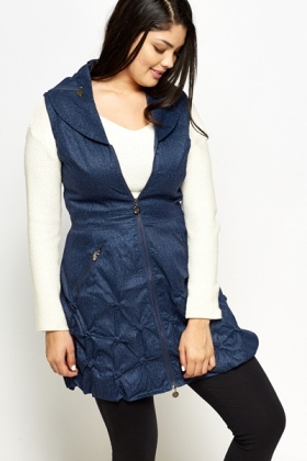 Sleeveless Ruched Jacket