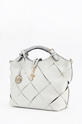 Cut Out Strap Front Handbag