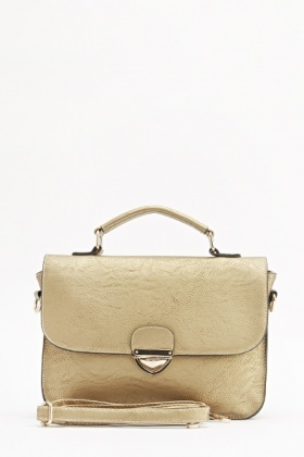 Gold Buckle Front Crossbody Bag