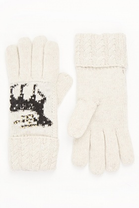 Reindeer Knit Gloves