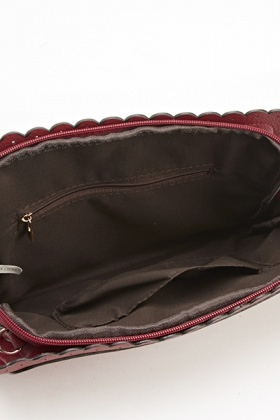 Studded Scallop Clutch Bag