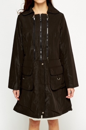 Black Zipped Parka