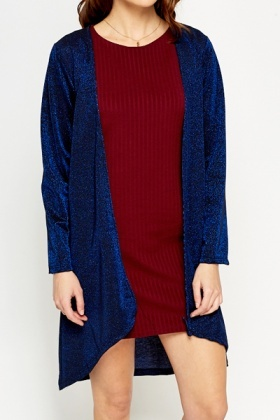 Blue Metallic Cardigan