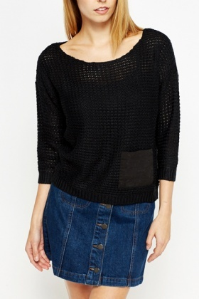 Loose Knit Cropped Jumper