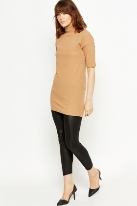 Roll Neck Oversized Top