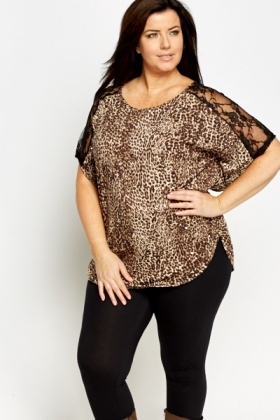 Lace Insert Batwing Top