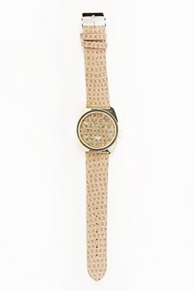Rust Printed Strap Watch