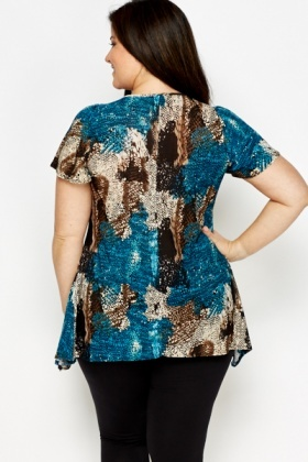 Teal Multi Tunic