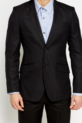 Wool Blend Suit Jacket