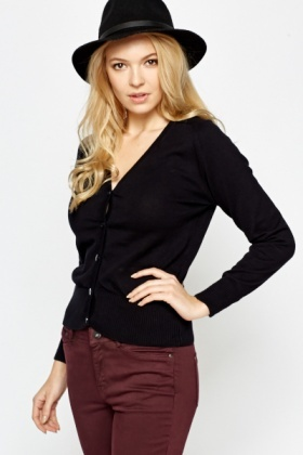 Classic Button Front Cardigan