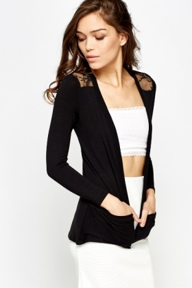 Lace Back Lightweight Cardigan