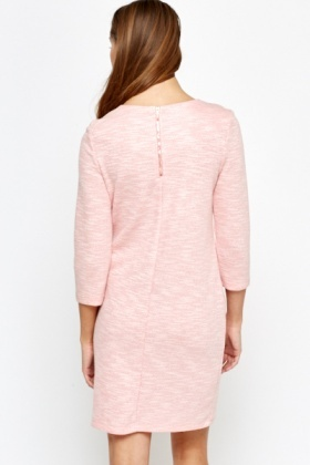 Rose Zip Detail Shift Dress