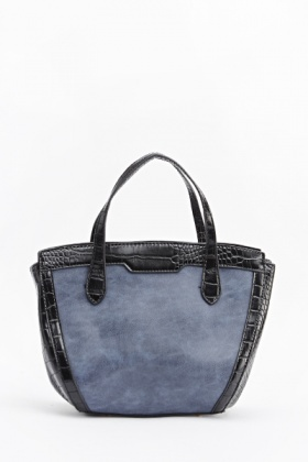 Faux Leather Mock Croc Handbag