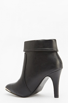 Zip Detail Ankle Boots