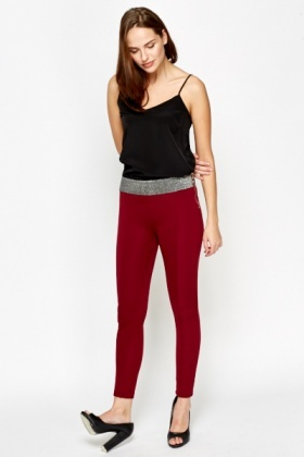 Glitter Waist Leggings