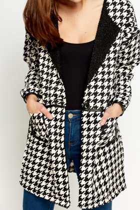 Houndstooth Print Jacket