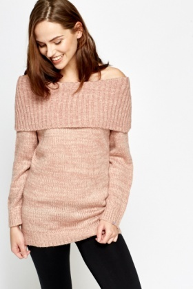 Off Shoulder Knit Jumper - Just £5 9df0e6f69