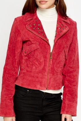 Star Studded Suede Jacket