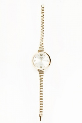 Thin Strap Round Face Watch