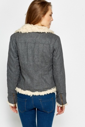 Faux Sheep Skin Jacket